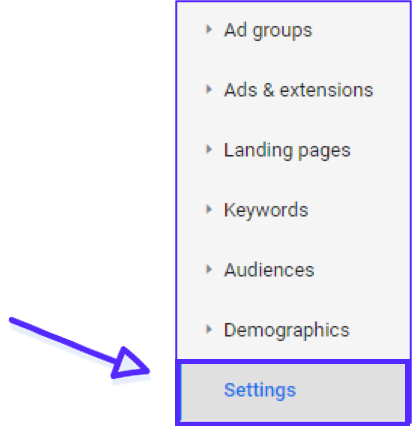 Google Ads Settings