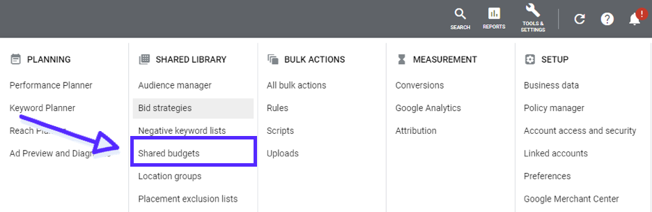 Google Ads Shared Budgets