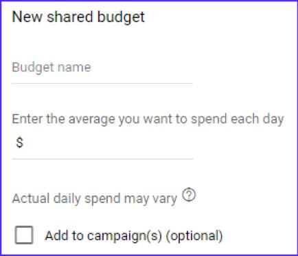 Google Ads New Shared Budget