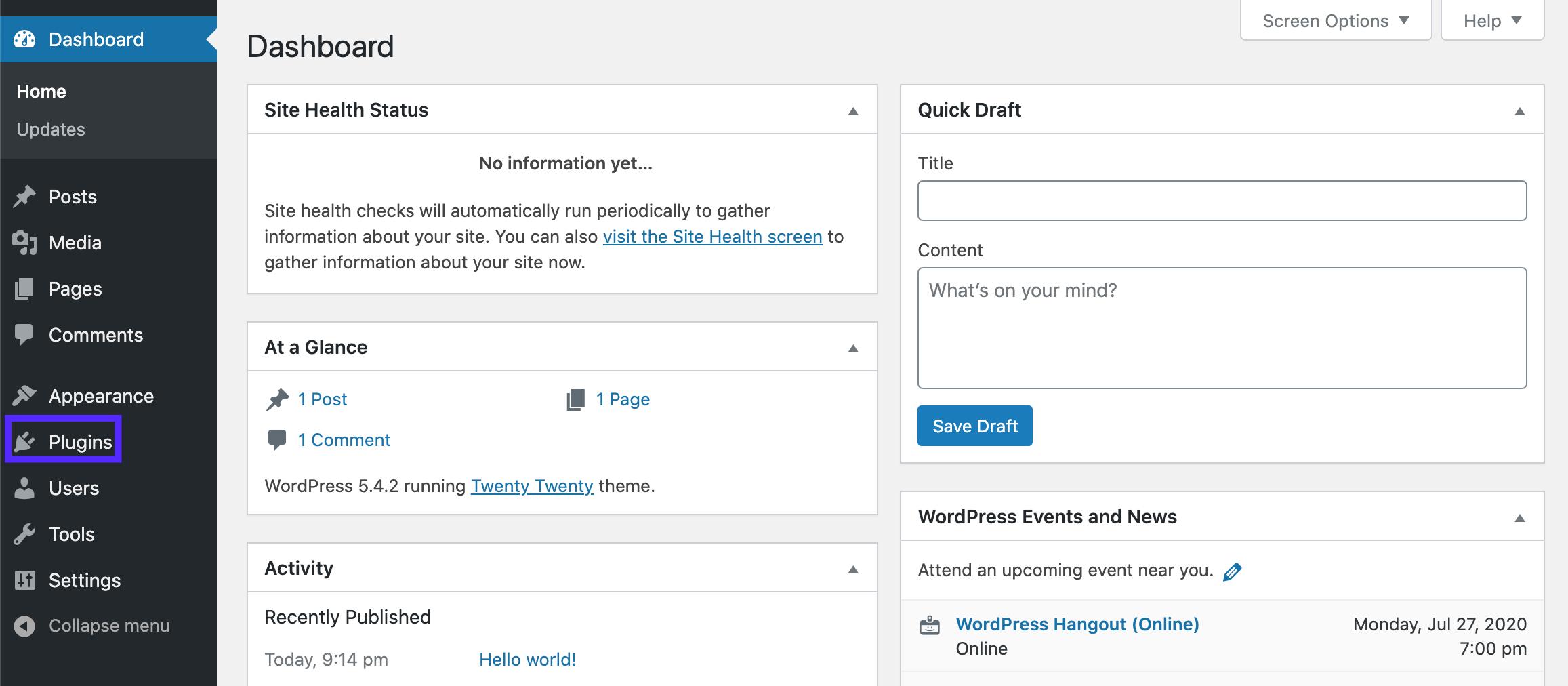 Add plugin to WordPress