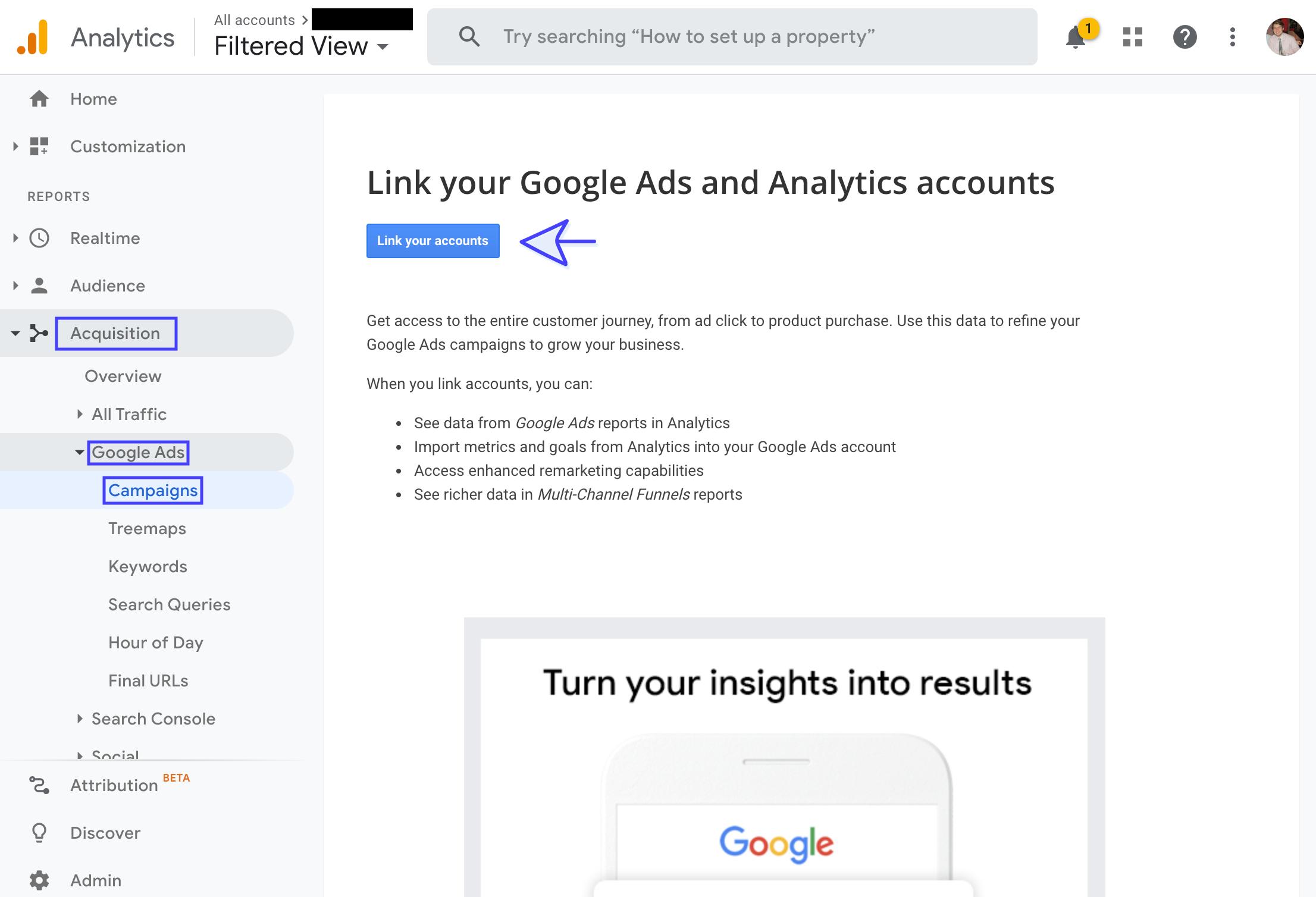 Link Google Ads